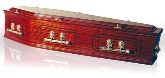 Kindale Mahogany Coffin