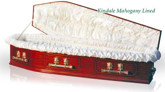 Kindale Mahogany Coffin (lined)