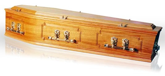 Solid Oak Coffin – 3 Panel Sides