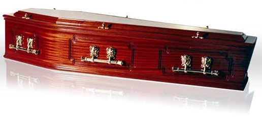 Solid Mahogany Coffin – 3 Panel Sides