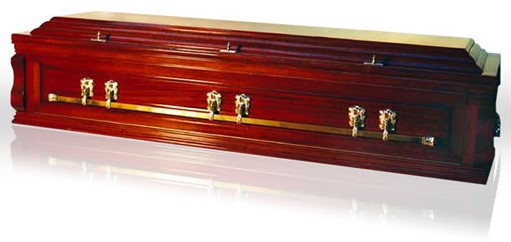 Cardinal Solid Mahogany Panel Sided Casket